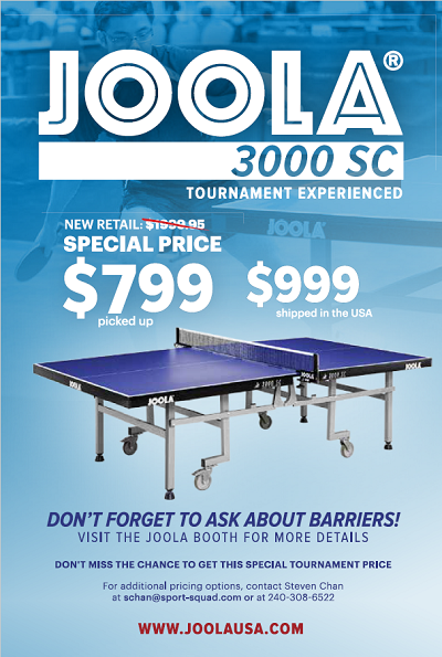 JOOLA Table Ad for 2018 small
